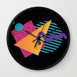 Memphis Pattern 29 / 80s - 90s Retro Wall Clock
