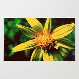 Vintage Yellow Flower Rug