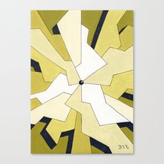 Mono Pattern | The Fragments Canvas Print