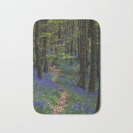 Bluebell trail at Margam woods Bath Mat