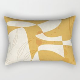 Abstract - Vase Shapes in Honey Rectangular Pillow