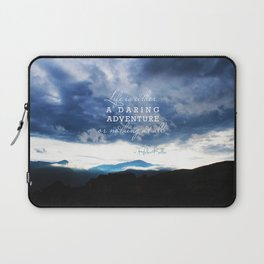 Life is either a daring adventure or nothing at all. - Helen Keller Quote Laptop Sleeve