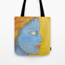 Lord Krishna pastel painting from Russia Tote Bag