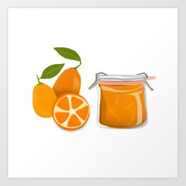 I Love Kumquats Art Print