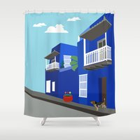colombia Shower Curtains featuring Colombia  by Design4u Studio