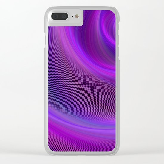 Purple night storm Clear iPhone Case