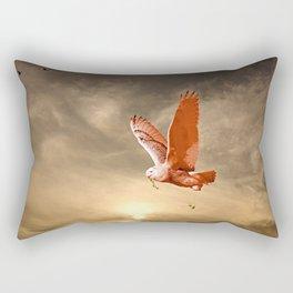 Snowy Owls Flight Rectangular Pillow