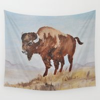 buffalo Wall Tapestries featuring Buffalo by TheWildPlum