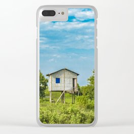 Traditional Cane House at Tropical Meadow, Guayas District, Ecuador Clear iPhone Case