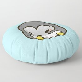 Shy penguin Floor Pillow