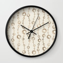 Enso Circle - Zen pattern pastel gold Wall Clock