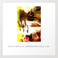 depression Art Prints featuring Depression by Davs