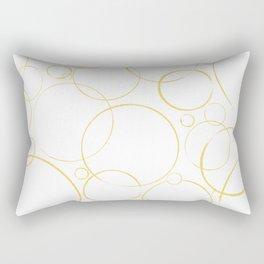round and round golden  Rectangular Pillow