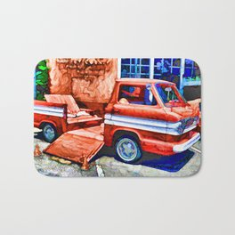 An Old Pickup Truck2 Bath Mat