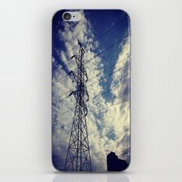 Heavenly spring sky in an industrial world iPhone Skin