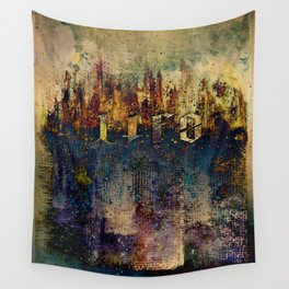 LIFE CITY AMBIGRAM Wall Tapestry