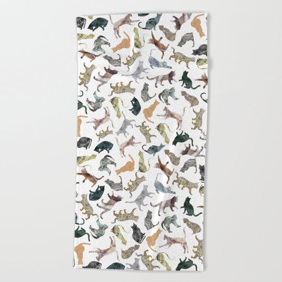 Nature Cats Beach Towel