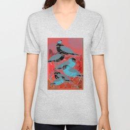 Bluebirds Unisex V-Neck