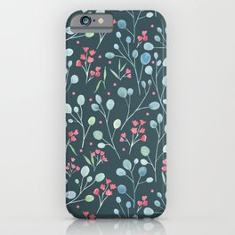 Eucalyptus and flowers iPhone Case