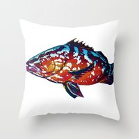 boss Throw Pillows featuring Boss by Bocese