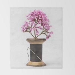 Wooden Vase Throw Blanket