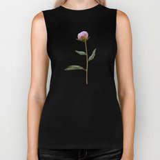 Peonies on Black Biker Tank