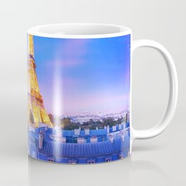 Panoramic image of the Eiffel Tower at dusk Coffee Mug