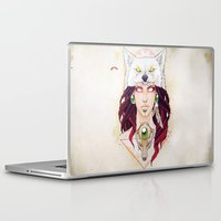 mononoke Laptop & iPad Skins featuring Mononoke by Electricalivia