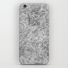 Grey and white swirls doodles iPhone & iPod Skin
