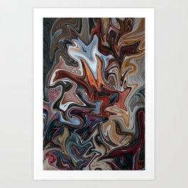 Caffine High Art Print