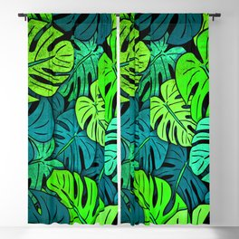 Tropical Leaves Blackout Curtain