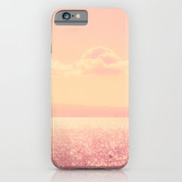 Dreamy Champagne Pink Sparkling Ocean iPhone Case