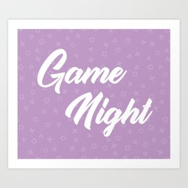 Game Night Purple Art Print