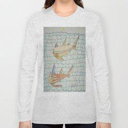 Shark Halloween Party Long Sleeve T-shirt