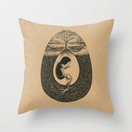 Natural Birth Throw Pillow