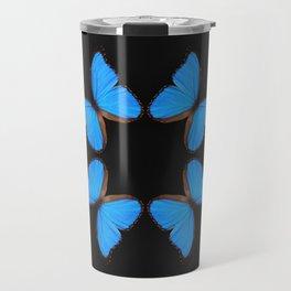 Blue Morpho Butterfly Symmetry Travel Mug