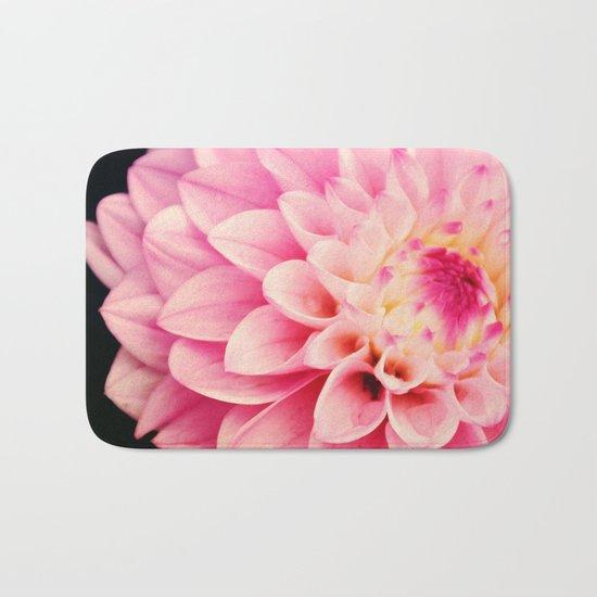 Sweet Pink Dahlia Bath Mat