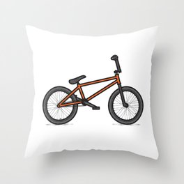 #17 BMX Throw Pillow