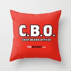 CHEIF BEARD OFFICER  Throw Pillow