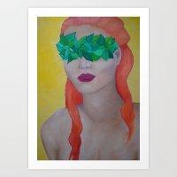 Mistress of Leaves Art Print