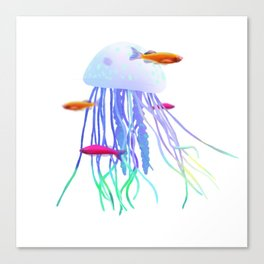 Jellyfish Landscape Canvas Print