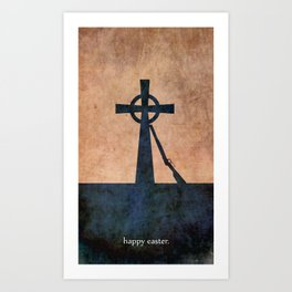 EASTER 1916 - Irish | Vector | Abstract | Surrealism | retro | Vintage | Ireland | Dublin Art Print