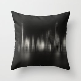 Shanghai Skyline IV Throw Pillow