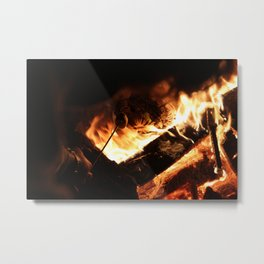 Around The Fire Metal Print