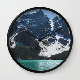 Landscape | Lake Moraine | Alberta | Wild | Nature Wall Clock