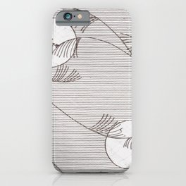 Two Moons Stencil,19th century Japan iPhone Case