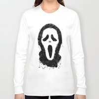 scream Long Sleeve T-shirts featuring Scream by Bill Pyle