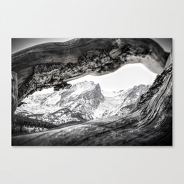 Sprague Lake, Estes Park, CO BW Canvas Print