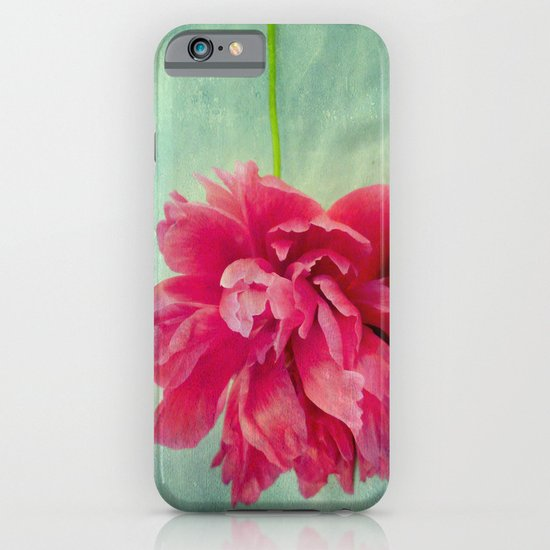 Peony on Blue iPhone & iPod Case