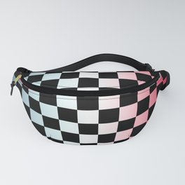 Red White Blue Gradient Checker Fanny Pack